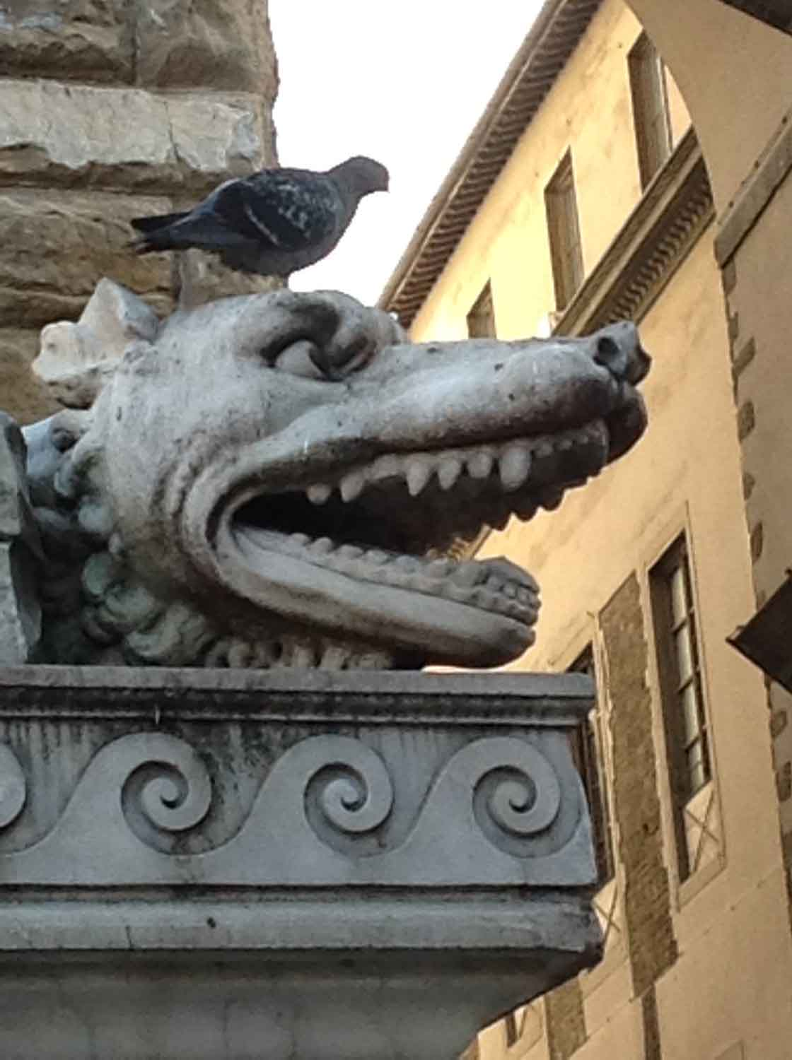Florence Italy Dragon w bird