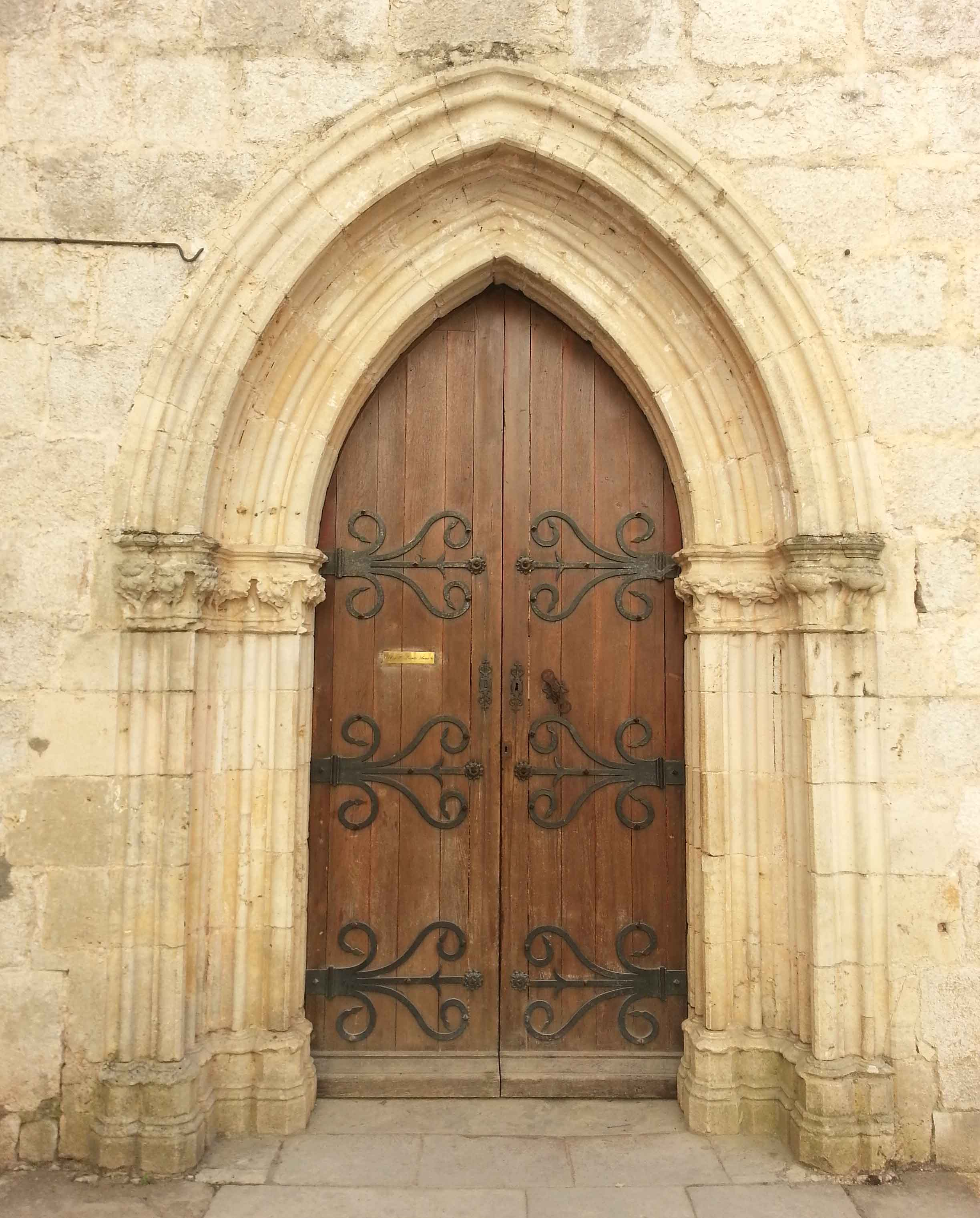 Cathedral Doors Rocamadour Creative Holidays for Lisa's Gryphon Art and Travel Workshop Tours