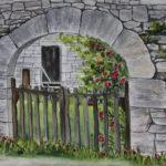 Bev Birdwell finished qrtr sheet for progression Gate at Saint Sulpice